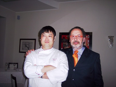 Shinichi Ueno con Claudio Mazzoni